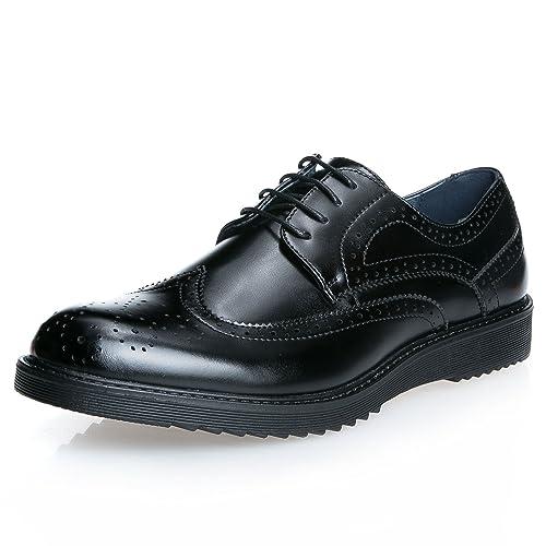 MForshop scarpe UOMO francesine parigine stringate ELEGANTe festa cerimonia  nero IA1506 (40 7f54ac43898