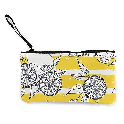 Monedero para mujer, diseño de pera de limón, con cierre, de ...