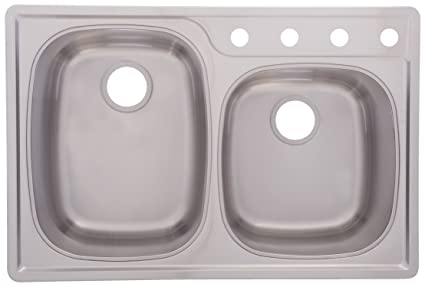 69db5725f5 Image Unavailable. Image not available for. Color: Franke OSK954BX Offset  Double Bowl Stainless Steel 33x22in. Topmount Sink