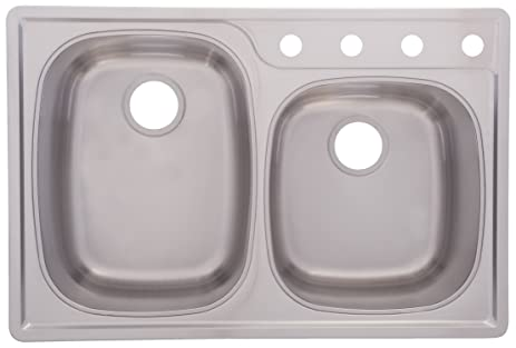 Franke OSK954-18BX Offset Double Bowl Stainless Steel 33x22in ...