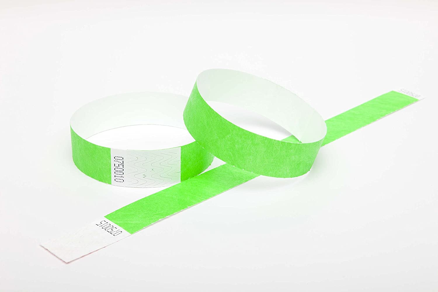 500 NEON GREEN Premium Tyvek Wristbands UK Wristbands