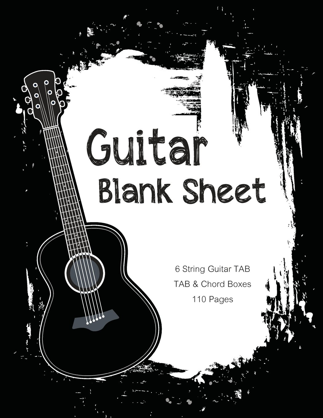 Guitar Blank Sheet Black And White Acoustic Guitar Music Paper