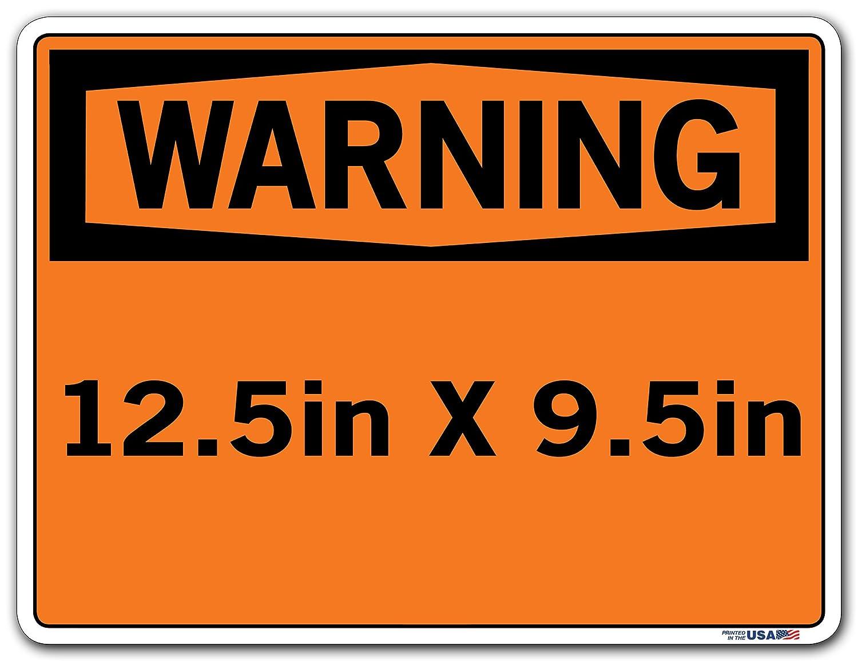 Aluminum 14.5 W x 10.5 H Vestil SI-W-08-C-AL-063-S HOT//CALIENTE Warning Sign 0.063 Overall Size