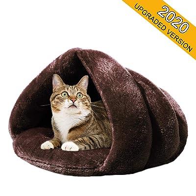 Mojonnie Soft Fleece Self-Warming Cat Bed Warm Sleeping Bed