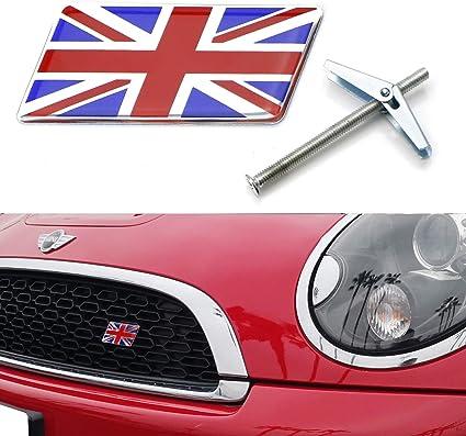 ASTON MARTIN UK UNION JACK FLAG EMBLEM TRUNK CAR BADGE