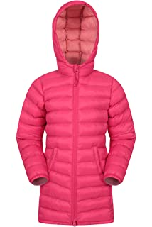 0492023ee1d Mountain Warehouse Florence Kids Long Padded Jacket - Lightweight Overcoat,…