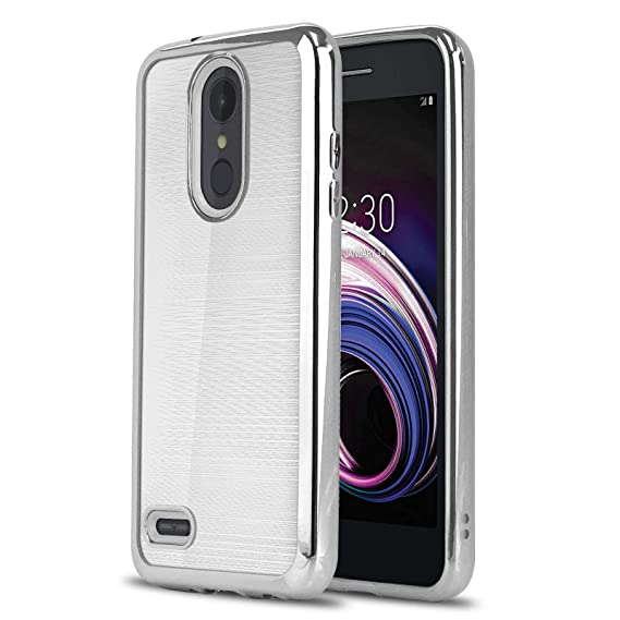 Phone Case for [LG Aristo 3 (Metro, T-Mobile)], [Chrome Series][Silver]  Shockproof Soft TPU Rubber [Chrome Design Electroplated Bumper] Cover for  LG