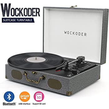 Amazon Com Victrola Vintage 3 Speed Bluetooth Suitcase