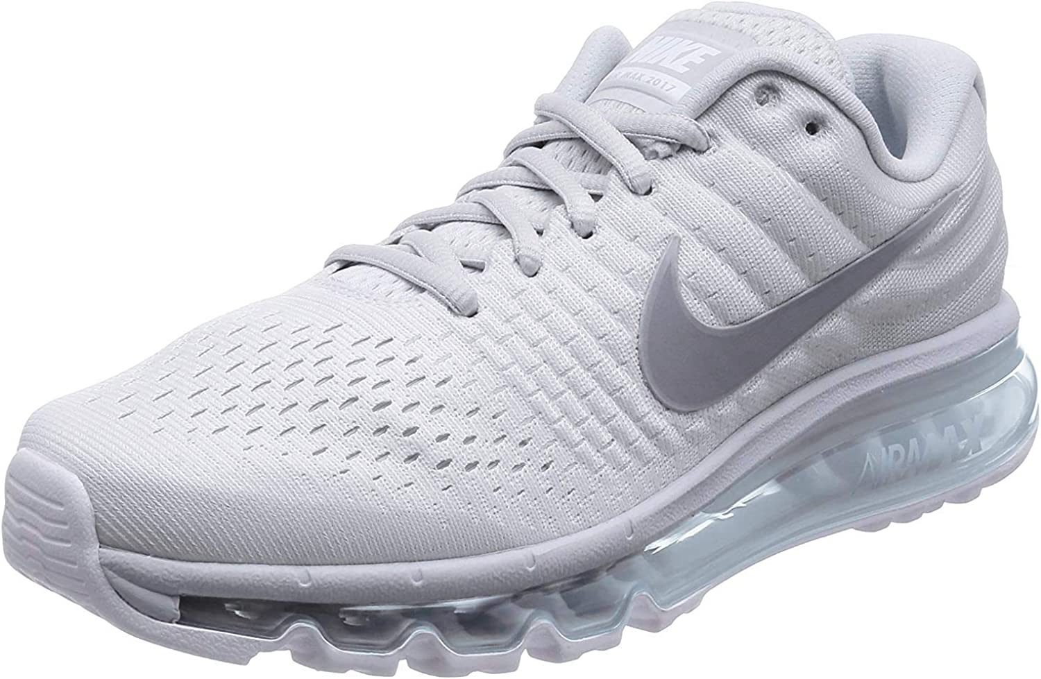 Nike Mens Air Max 2017 Grey/White 849559-101: Amazon.es: Deportes ...