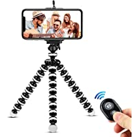 Phone Tripod,Portable and Flexible Adjustable Cell Phone Stand Holder with Remote and Universal Clip Compatible with…