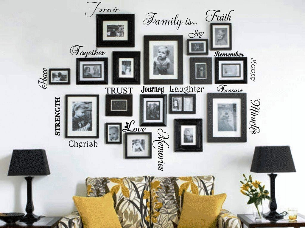 Amazon picture collage words family wall decal set of 20 amazon picture collage words family wall decal set of 20 words quote vinyl art sticker home kitchen amipublicfo Image collections