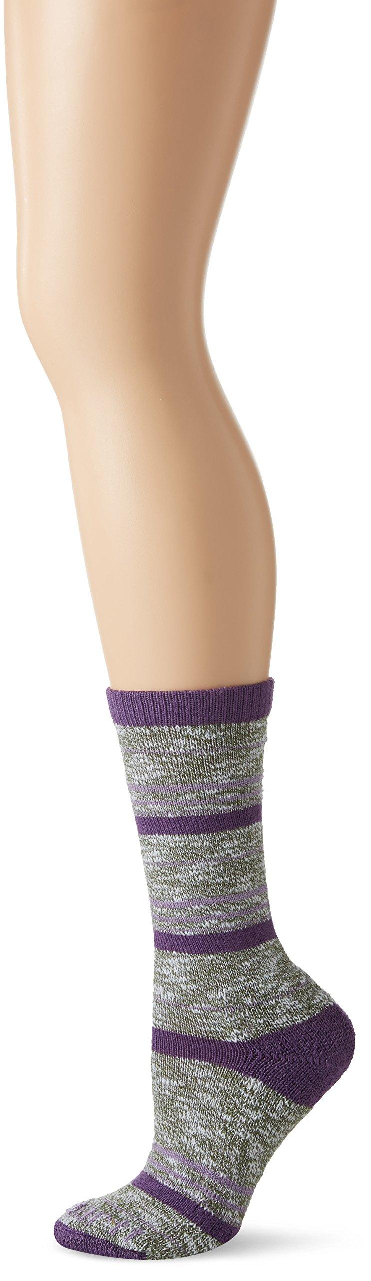 Carhartt Women's Merino Wool Blend Slub Stripe Socks, Grey, Shoe: 5.5-11.5