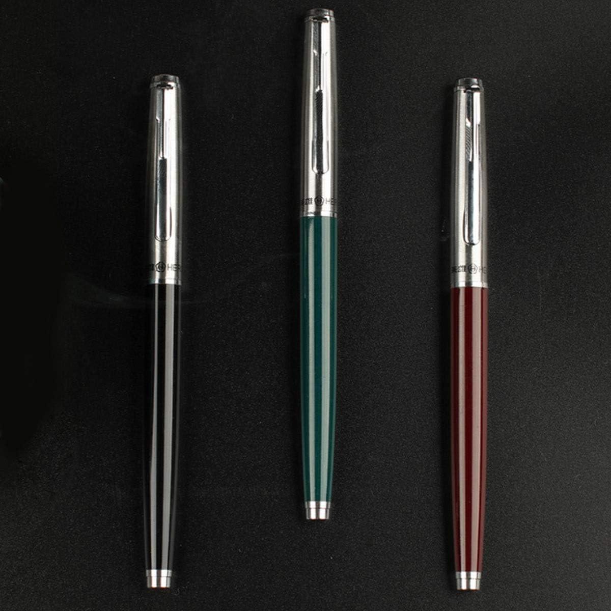 Color : Black Adult Writing Pen Hongyushanghang Pen Green Male and Female Students Wine Red Black,Elegant Taste Fountain Pen
