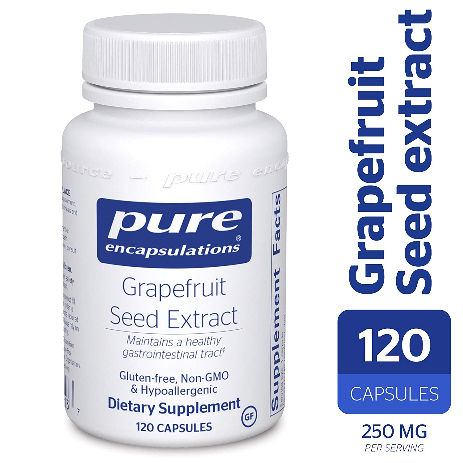 Pure Encapsulations – Grapefruit Seed Extract – Hypoallergenic Supplement Supports GI Tract and Balance of Intestinal Microorganisms* – 120 Capsules