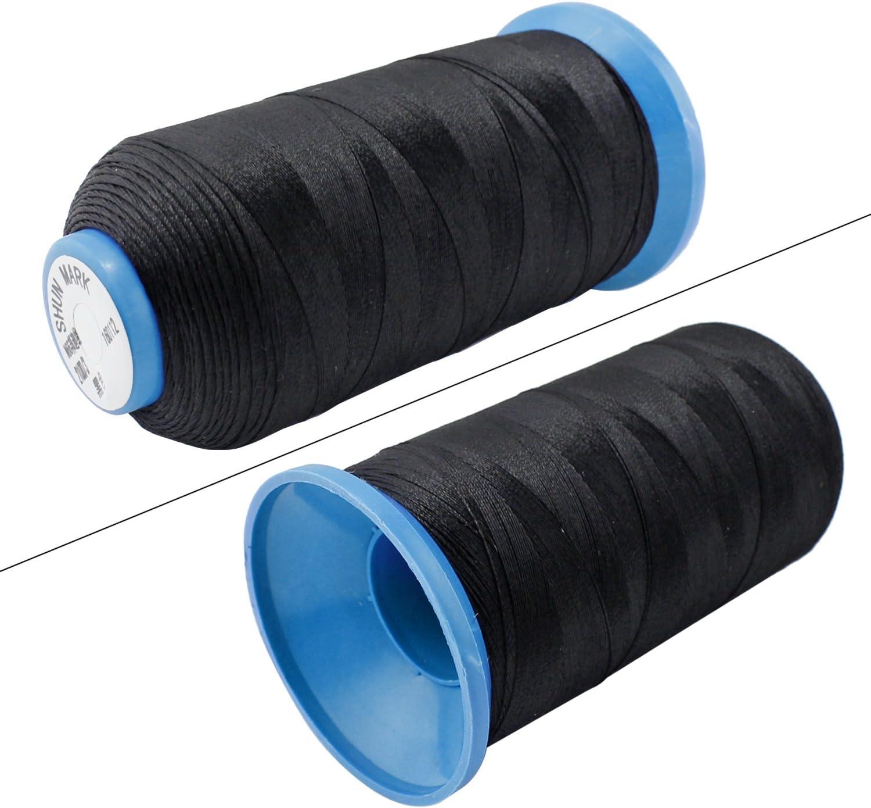bianco PsmGoods/® Bonded Nylon Filo da cucito resistente per macchina da cucire o la cucitura manuale