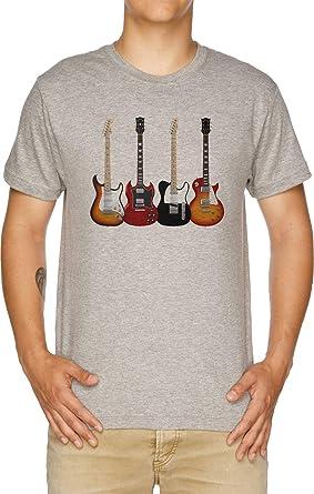 Vendax Cuatro Eléctrico Guitarras Camiseta Hombre Gris: Amazon ...