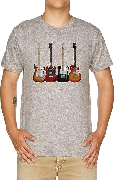 Vendax Cuatro Eléctrico Guitarras Camiseta Hombre Gris: Amazon.es: Ropa y accesorios