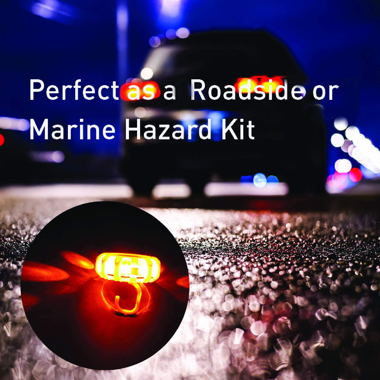 Securityman LED Road Flares with Safety Vest Bright Warning Beacon//Flashing Distress Light   Emergency Kit for Roadside /& Marine Boat Hazards 3 Pack Car /& Truck Magnetic Base DOT Approved