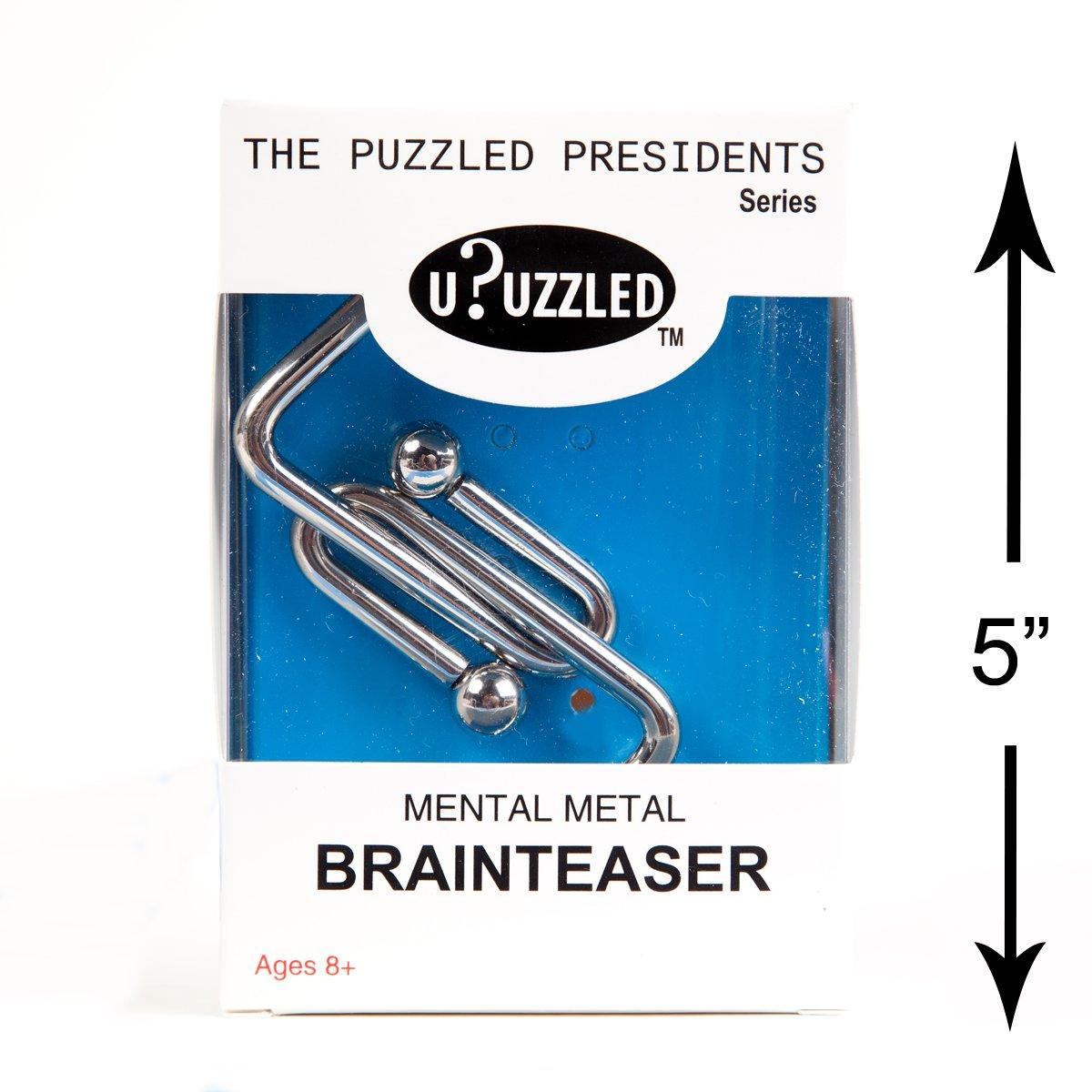 Large Metal Puzzle 4-Pack Mental Brainteaser #3