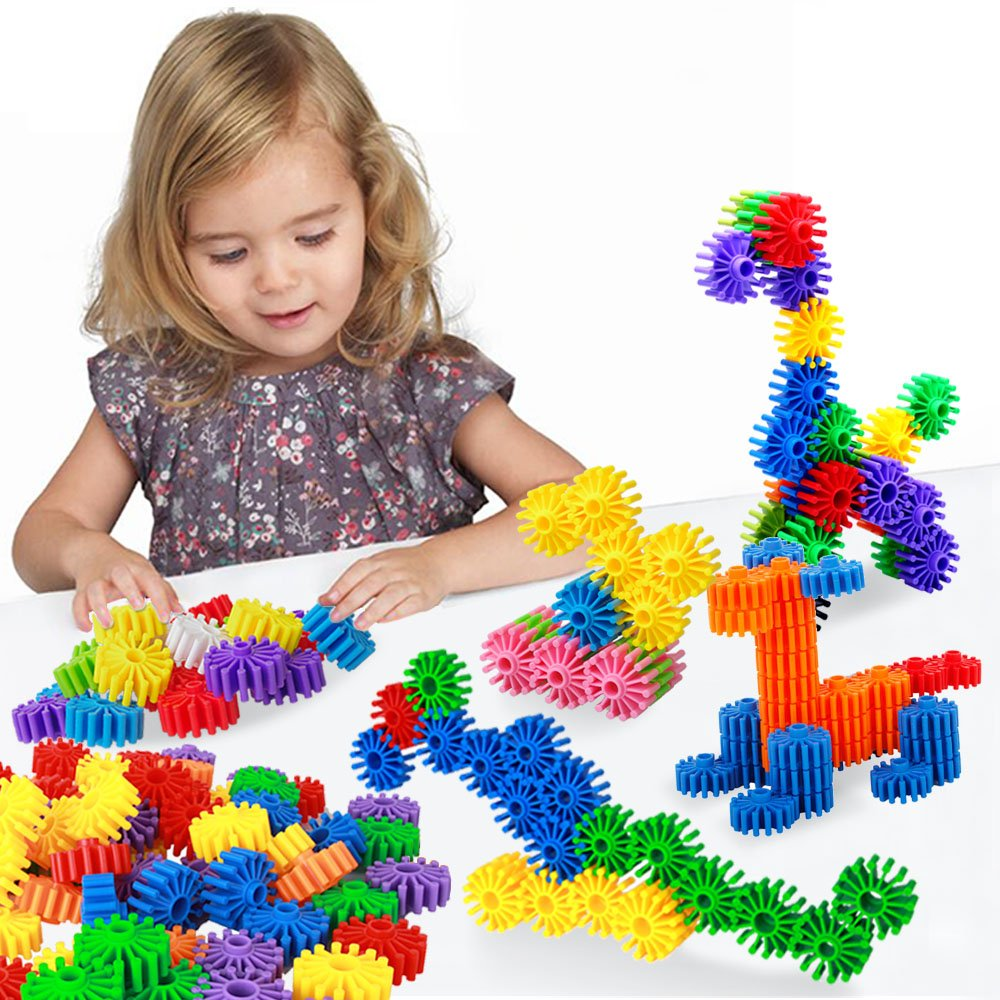 Building Blocks Puzzles Sets,FIOLOM Educational Learning Toys Interlocking Solid Gear Set Preschool Gifts for Boys Girls Kids Over 2 3 Year Old Review