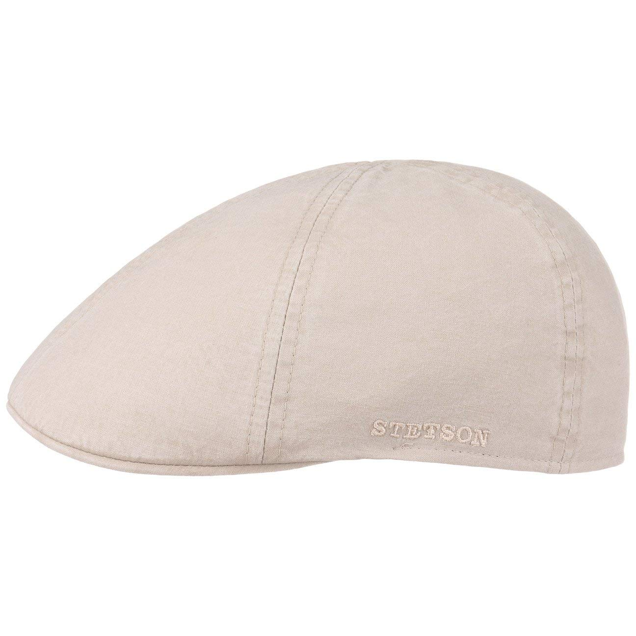 Berretto Piatto Cappello Cotton cap con Visiera Primavera//Estate Stetson Texas Coppola in Cotone Uomo