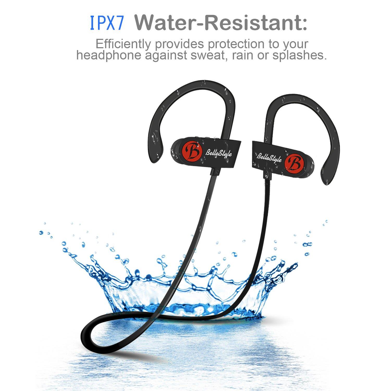 BELLESTYLE Auriculares Bluetooth, IPX7 Waterproof In Ear Wireless ...