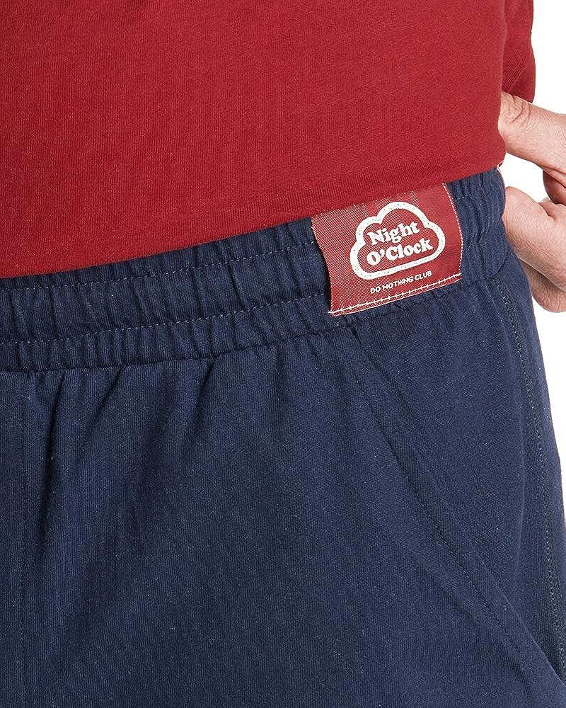 Nightoclock Boby Conjunto de Pijama para Hombre en algod/ón org/ánico e Antifaz