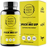 Natural Energy Supplement – HAPPY HEALTHY HIPPIE Plant Based Caffeine Free Energy Pills for Metabolism, Mental Power & Happin