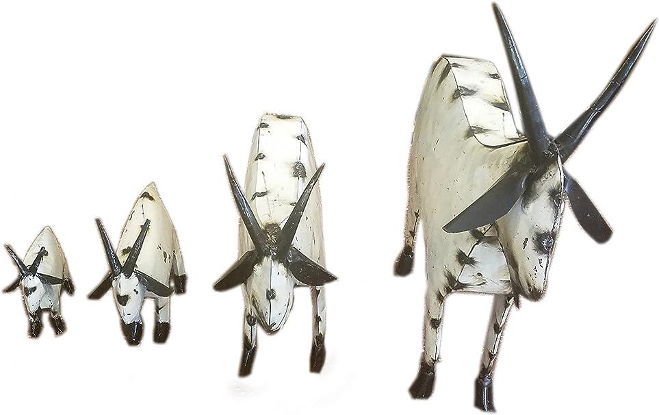 Home Decor Yard Art Welded Mini Metal Goat Sculpture Metal Art