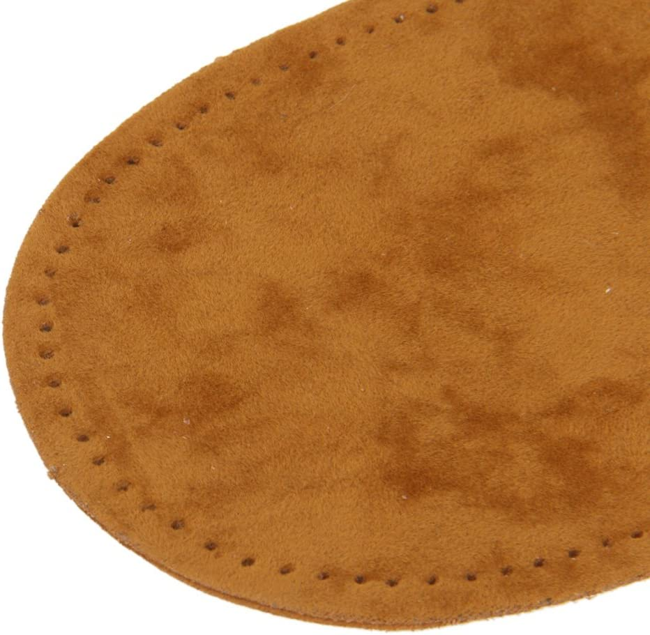 3 Pairs Suede Sew On Patches Repair Elbow Knee for Jeans Pants Clothing Decoration Brown Tan Blue