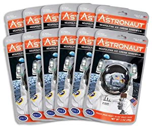 American Outdoor Products Astronaut Neapolitan Ice Cream Sandwich, .7 oz., (Pack of 12)