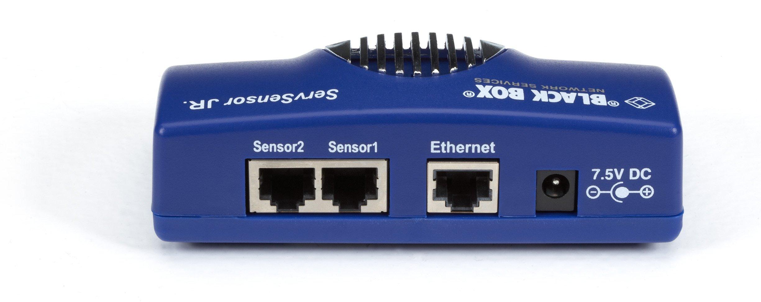 Black Box AlertWerks ServSensor Junior, 2-Port, (1) Dual Temperature Humidity Sensor (Kit)