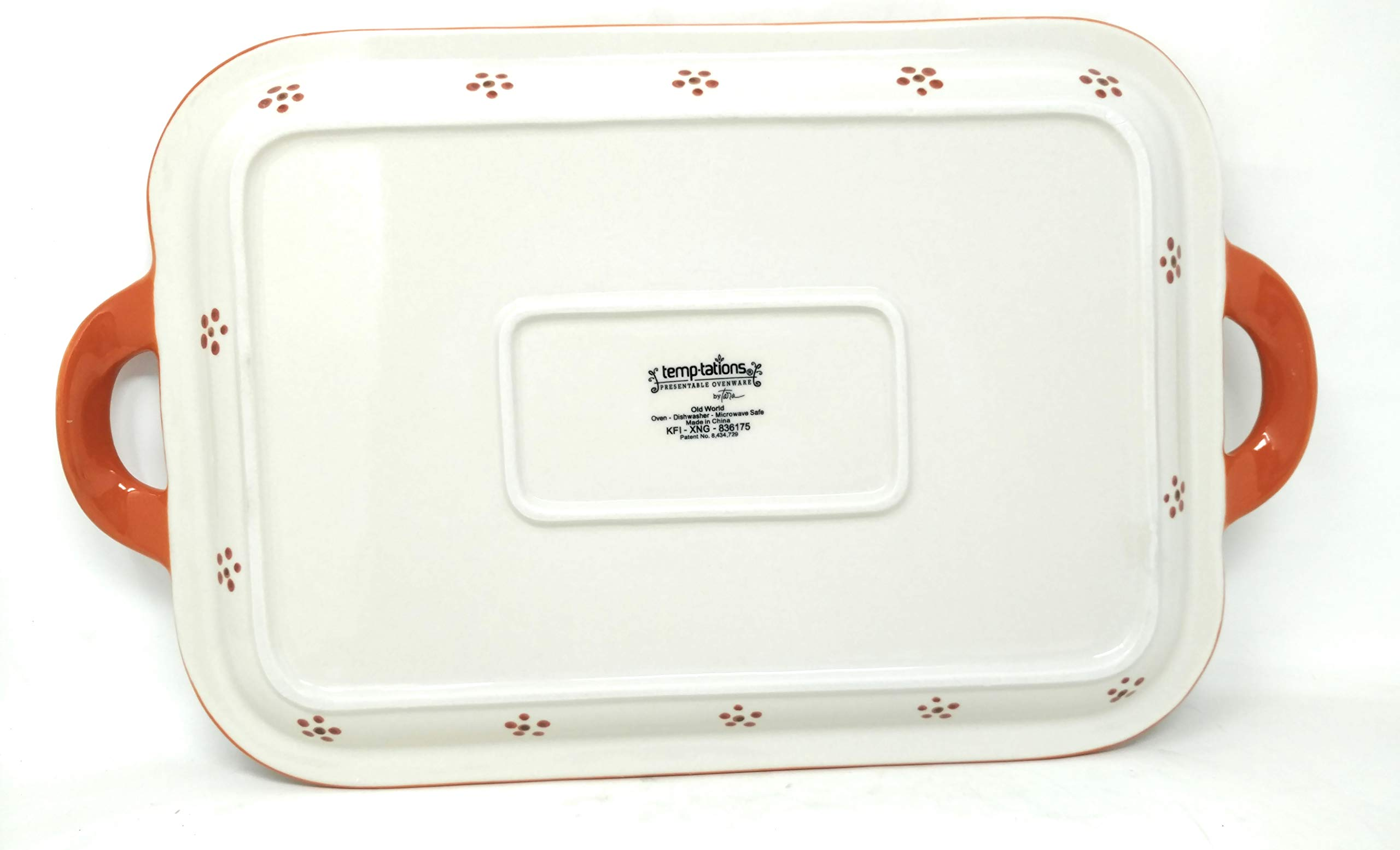 Temp-tations 13''x9'' Cookie Sheet w/Handles, Platter, Shallow Tray or Replacement Lid-It (Handles Old World Fallfetti) by Temptations (Image #3)