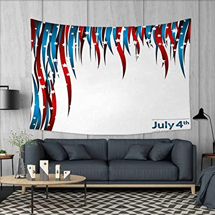 Anniutwo 4th Of July Home Decorations For Living Room Bedroom Independence Day Themed Stars And Swirled