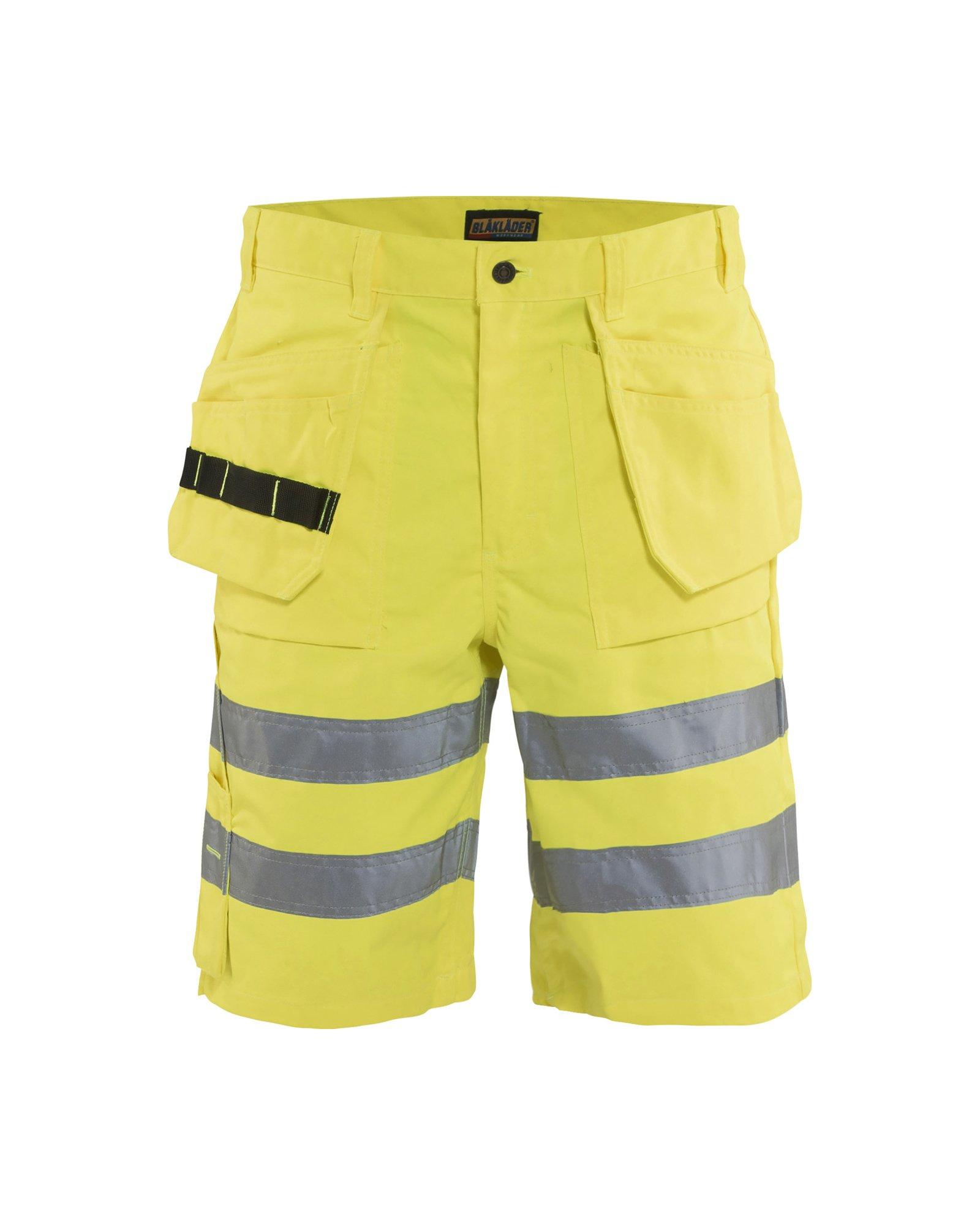 Clothes Made for Manual Labor: Construction, Carpentry, Etc. Workwear Bundle: Blaklader Hi-Vis Shorts Yellow 34 & Hammer Hook