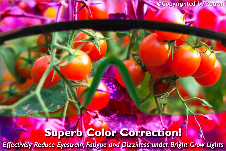 amazon com zotron led grow light color correction safety glasses