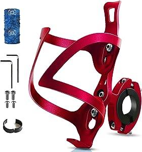 Bike Bottle Holder Bicycle 2-in-1 CAIWEICW Bottle Holder Aluminum Alloy Bottle Holder Fast and Easy to Install, Universal Rotating Cup Beverage Holder for Bike Handlebars, Wheelchair, Stroller