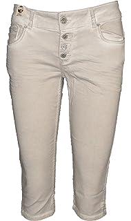 Coccara Curly Button Capri Damen Women/'s Jeans Shorts  CN217712