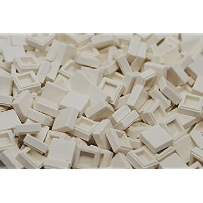 Imex 1X1 White Tiles 300 Pack Compatible with Major Brands: Toys & Games