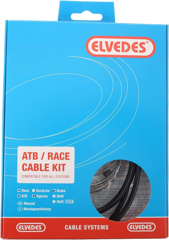 Cables Mixte Adulte Blanc Elvedes Kit Transmission Complet Gaines