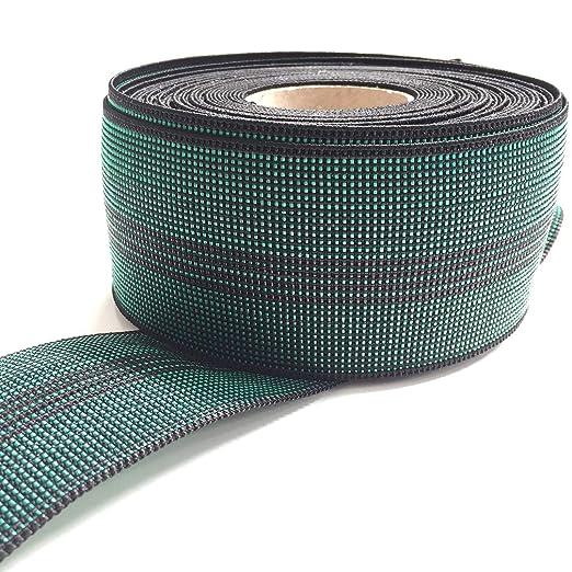 Correa elástica GW4, 70 mm, Verde, Rollo de 10 Metros para ...