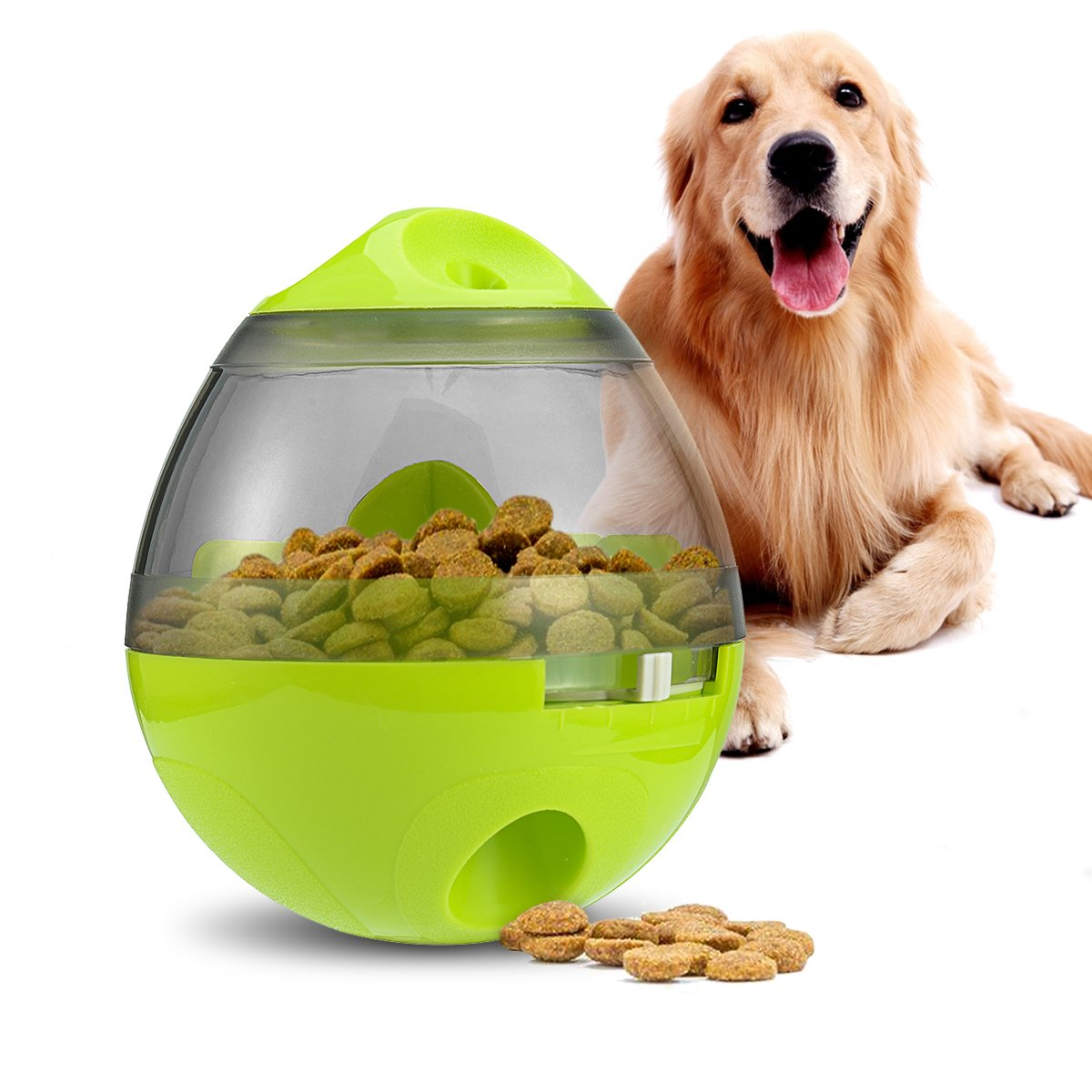 Dog Treat Ball, Dog Treat Dispenser Ball Interactive Dog Food Ball Increases IQ Treat Ball for Dogs & Cat - IQ Dog Toy Weiye