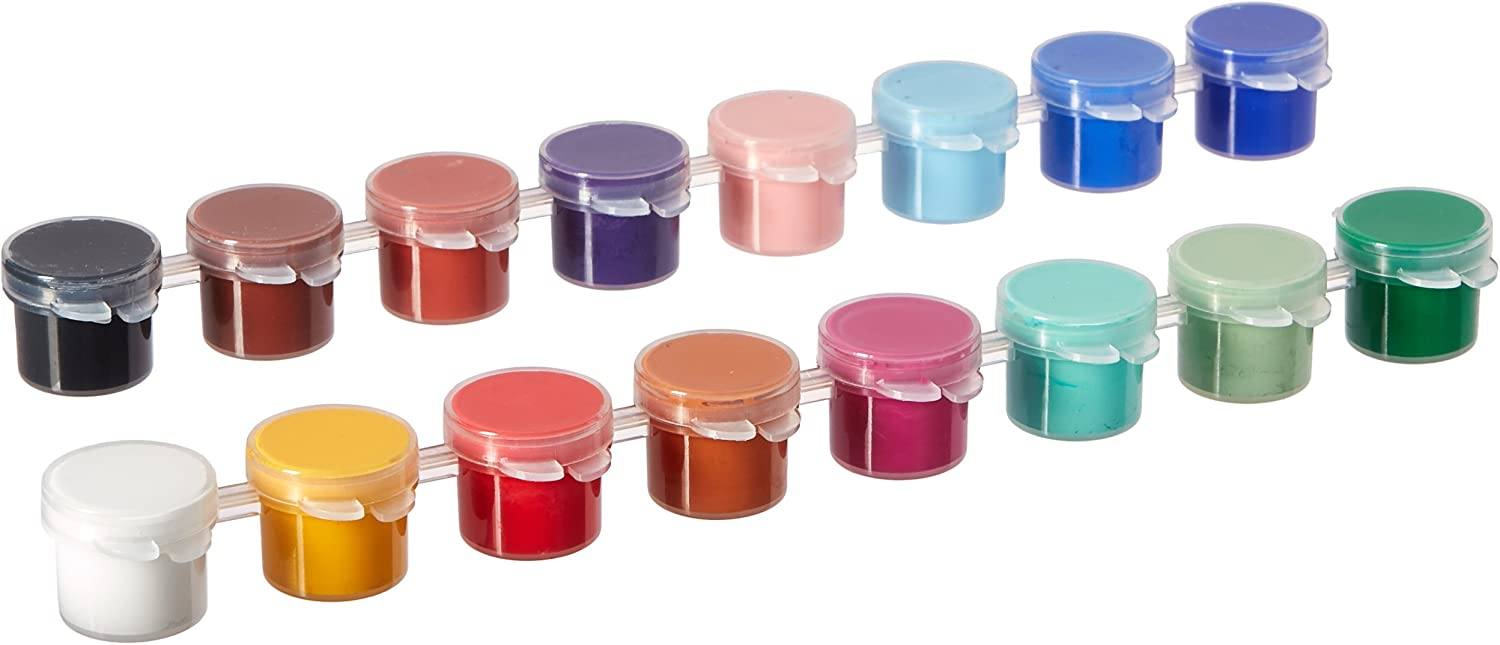 Delta Creative Paint Pots Set with Paint and Brush for Outdoors, 027050056 (16 Colors)