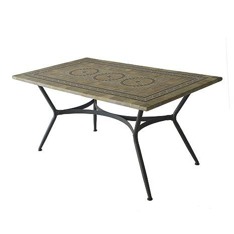 Alinéa Agadir Table de Jardin rectangulaire mosaïque ...
