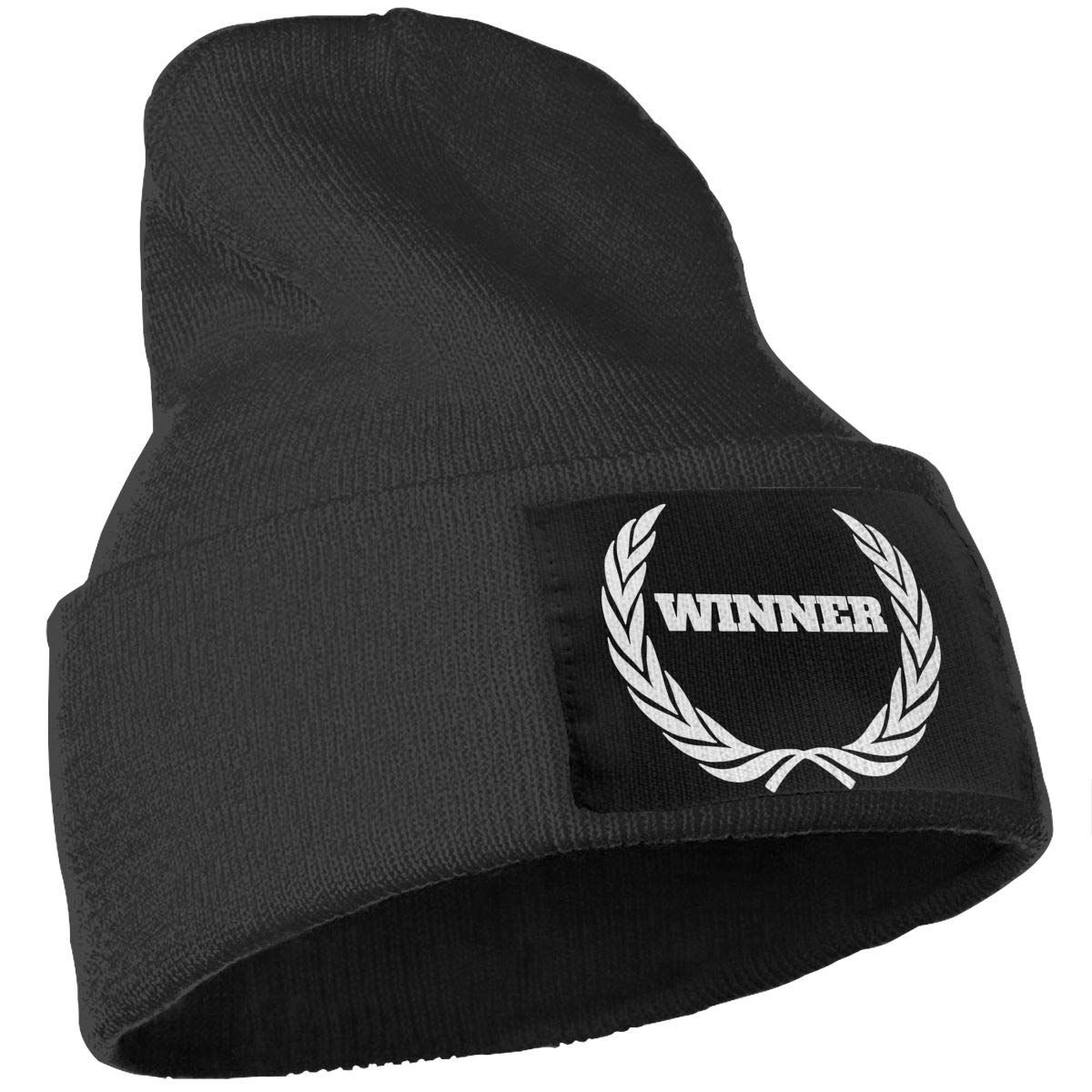 Men//Women Winner Outdoor Stretch Knit Beanies Hat Soft Winter Skull Caps