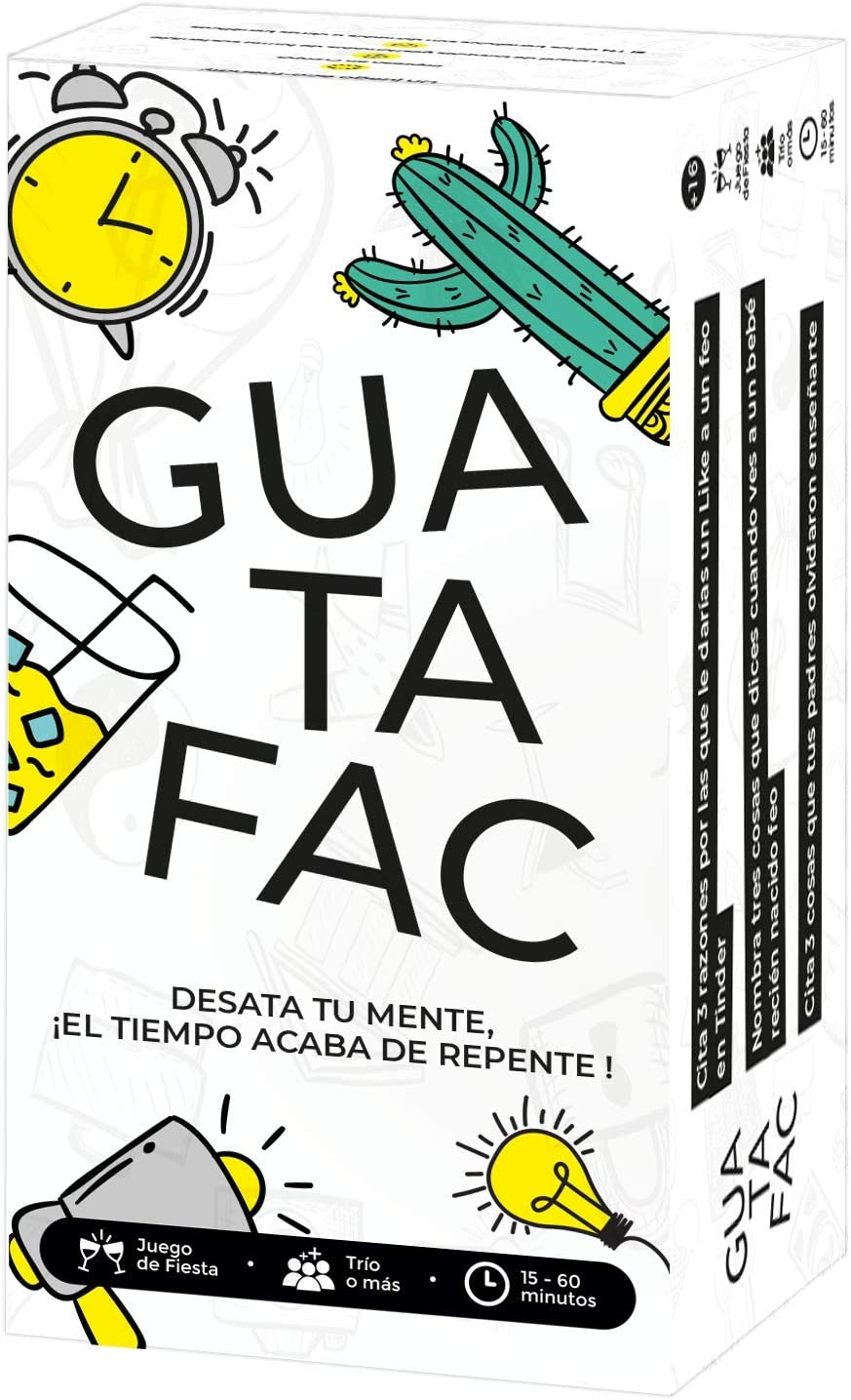 GUATAFAC 🔥 – Juego de Mesa - Juego de Cartas para Fiestas y Risas ...