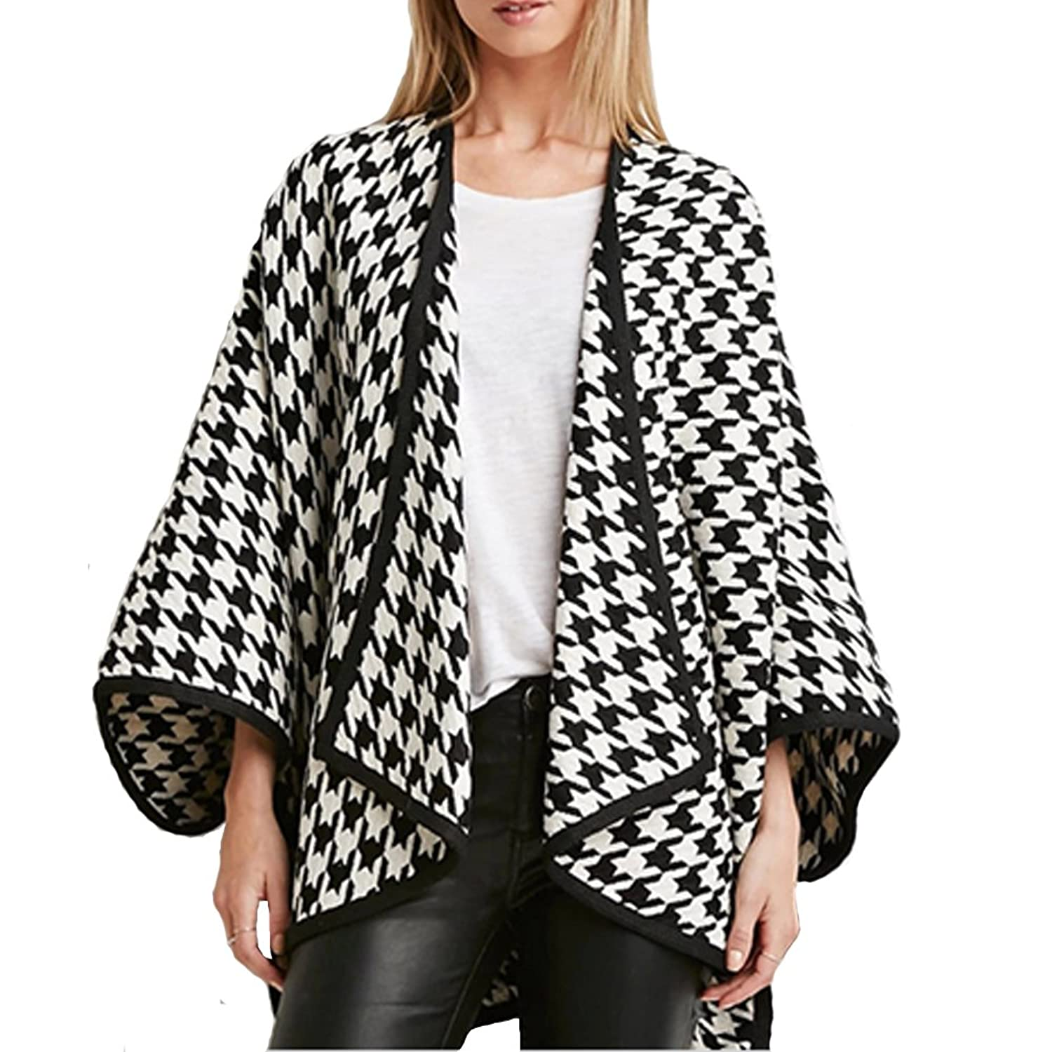 ZhengYuan Women's Bat Sleeve Stripe Loose Cardigan