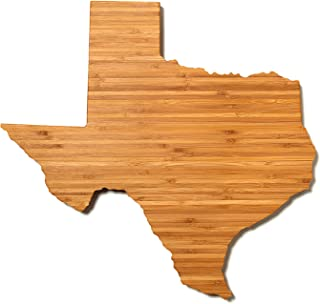 """product image for AHeirloom: The Original Texas State Shaped Serving & Cutting Board. (As Seen in O Magazine, Good Morning America, Real Simple, Brides, Knot.) Made in the USA from Organic Bamboo, Large 15"""""""