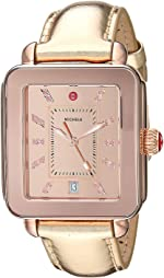 Michele Women's Deco Sport High Shine with Reflector Topring Rose Gold