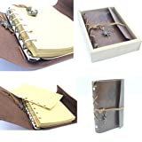 Vintage Journal Notebook - Leather Journey Notebook Brown Paper Manual Notebook